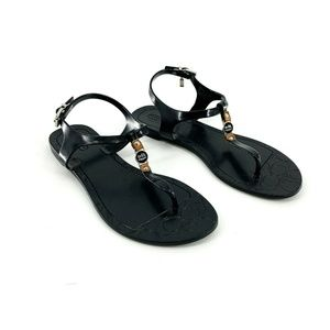 Coach Black Piccadilly Jelly Sandals